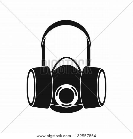 Respirator icon in simple style isolated on white background