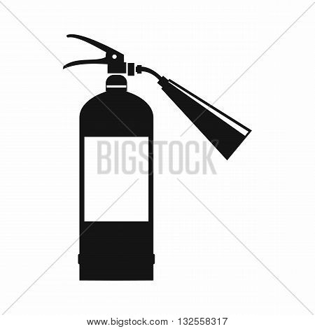 Fire extinguisher icon in simple style isolated on white background