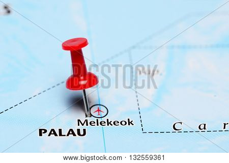 Melekeok pinned on a map of Asia