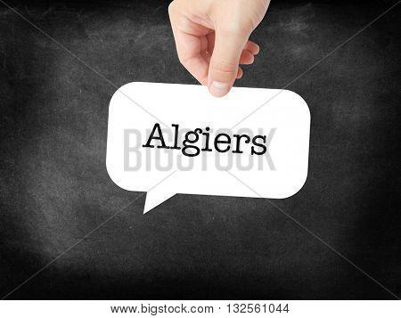 Algiers - the city - written on a speechbubble