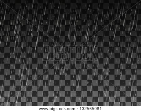 Rain, Background with rain, Rain drops on the transparent background, Rainy weather