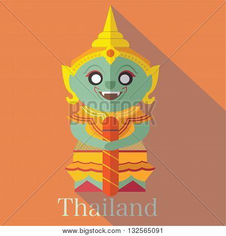 Wat Pra Kaew icon eps 10 format