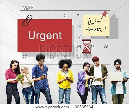 Urgent Calendar Plan Planning Organizer Concept
