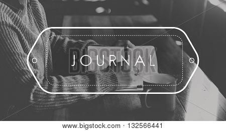 Journal Writing Note Information Blog Concept