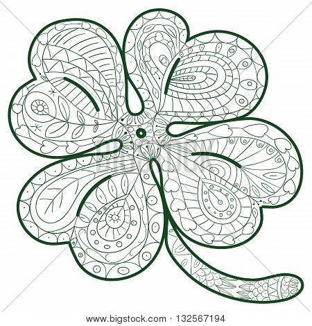 four leaf clover coloring page  Coloring Pages