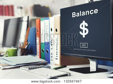 Balance Banking Account Currency Concept