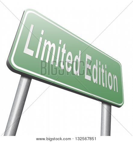 limited edition exclusive product and collecters item