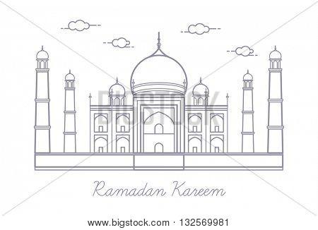 Vector Ramadan Kareem, greeting card