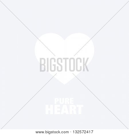 Pure Heart - graphic design element. Heart image.