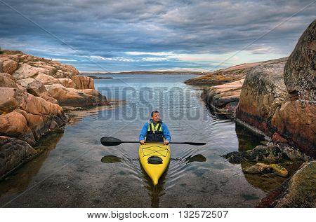 kayaking in south Sweden