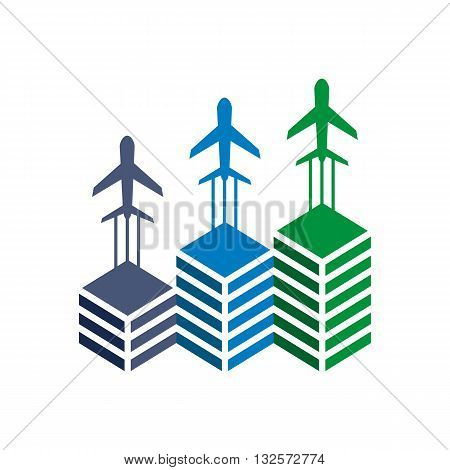 logo airplane transportation travel flying holiday symbol