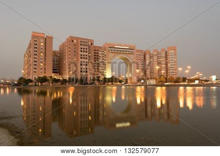 DUBAI UAE - MARCH 18: Ibn Battuta Gate Hotel in Dubai. Mar 18 2016 in Dubai United Arab Emirates