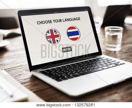 Thai English Language Communication Global Concept
