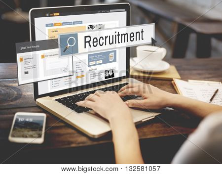 Recruitment Job Work Vacancy Search Concept