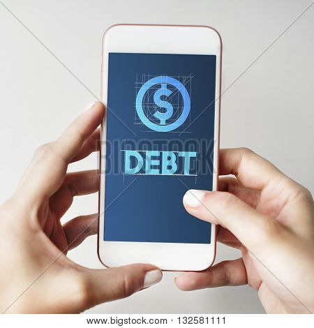 Debt Financial Money Technology Graphic Concept