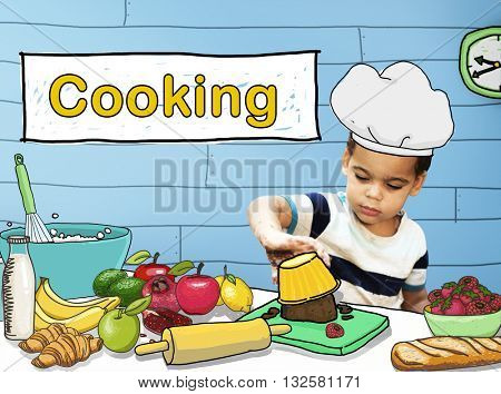 Cooking Culinary Gourmet Baking Healthy Children Hobby Concept