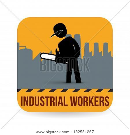 Worker concept with icon design, vector illustration 10 eps graphic.