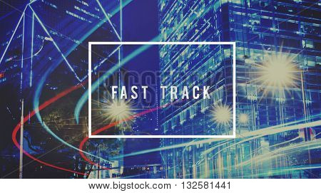 Fast Track Succeed Goal Target Achievement Improvement Concept