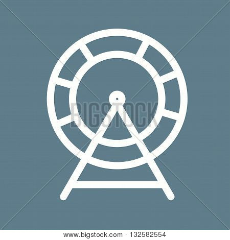 Mouse, cage, running icon vector image. Can also be used for pet shop. Suitable for mobile apps, web apps and print media.