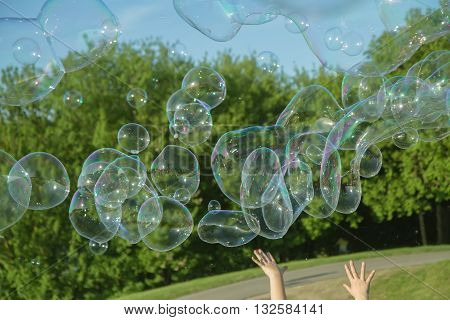 Many Bubbles In Air