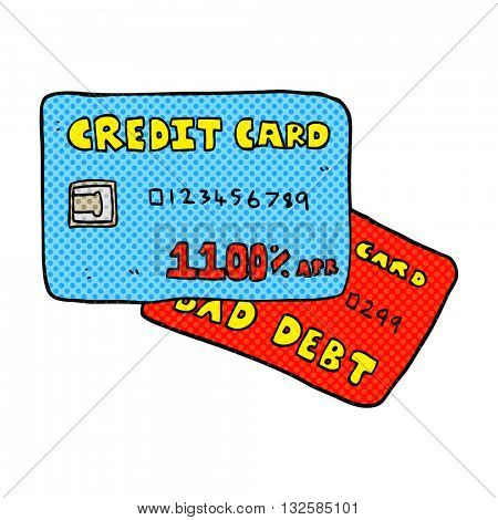 freehand drawn cartoon credit cards