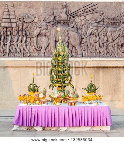 Phan baisri use for tradition in temple north eastern Thailand