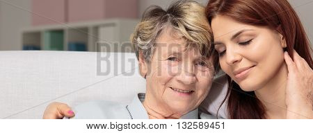 Loving Grandmother And Granddaughter