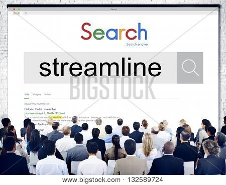 Streamline Broadcasting Multimedia Live Online Concept
