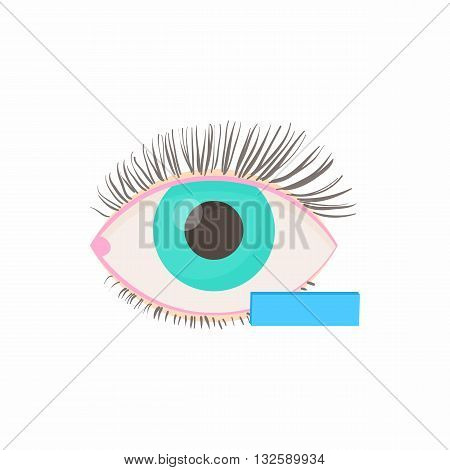 Myopia eyesight disorder icon in cartoon style on a white background