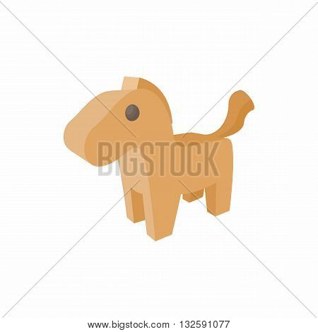 Horse trojan icon in cartoon style on a white background