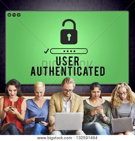 User Authenticated Real Original Personal Concept