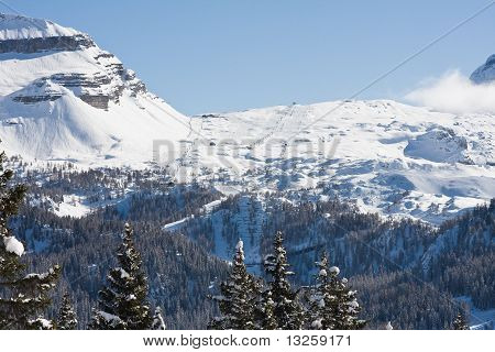 High Mountains Under Snow In The Winter, Italy