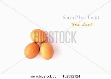 Eggs isolated on white background, cooking, food