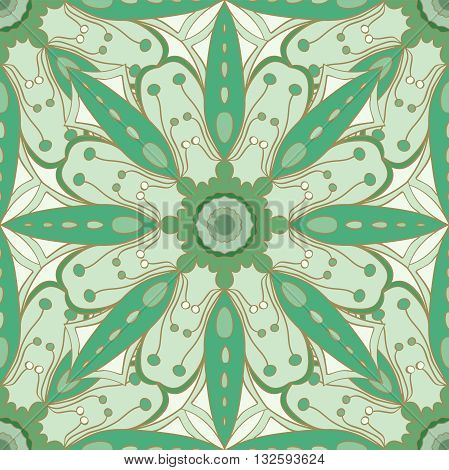 Seamless pattern. Decorative pattern in beautiful aquamarine colors. Vector background