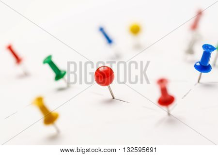 Colorful Paper Pins Attached