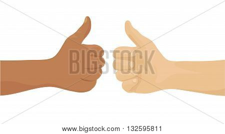 Hands showing okay sign  - vector illustration