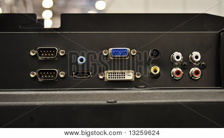 The panel with plug-and-sockets