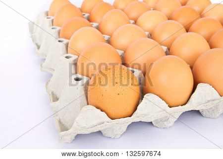 eggs in a package to isolate the background