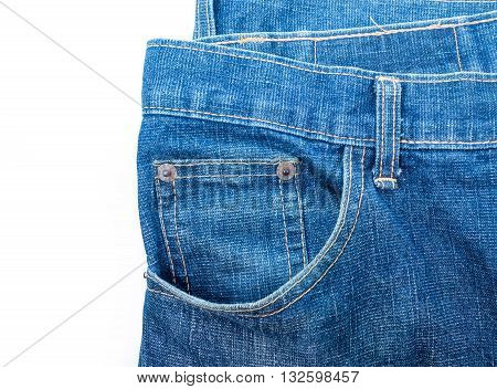 Denim background Texture denim  isolated on white background