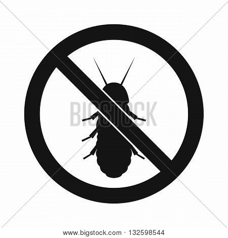No termite sign icon in simple style isolated on white background