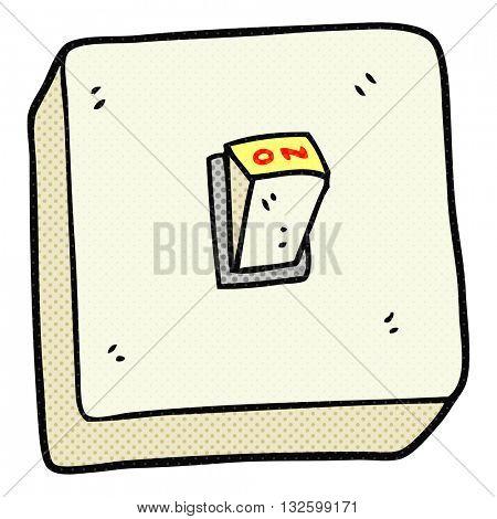 freehand drawn cartoon light switch
