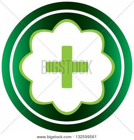 Green icon with a mathematical sign plus
