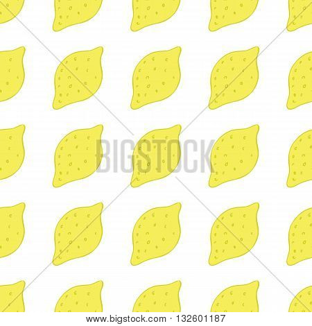 Lemon vector background/Lemon seamless pattern/Lemon textile pattern. Isolated lemon repeating background/Summer colorful lemon textile print/Lemon background for scrapbooking.