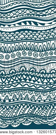 Hand drawn abstract vertical pattern, vector illustration
