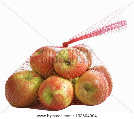 FIRIKI APPLES IN RED PERFORATED PLASTIC BAG
