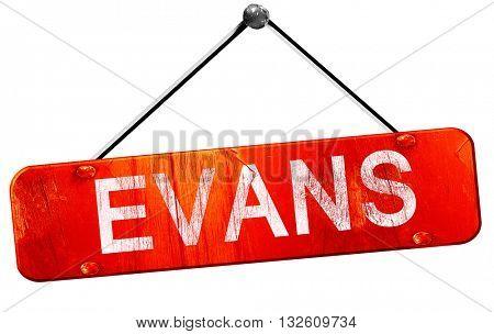 evans, 3D rendering, a red hanging sign