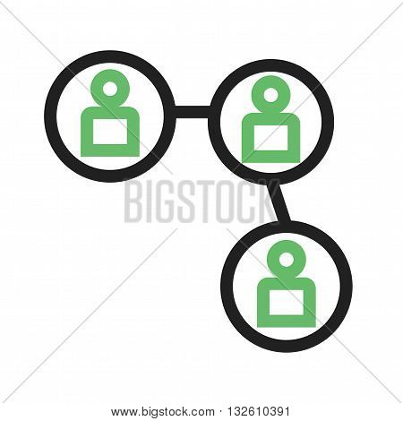 Link, share, connection icon vector image.Can also be used for networking. Suitable for mobile apps, web apps and print media.