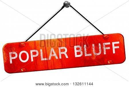 poplar bluff, 3D rendering, a red hanging sign