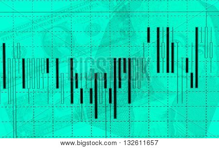 Stock exchange chart graph. Finance business background.