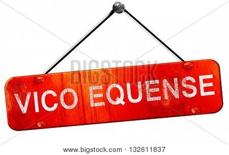 Vivo equense, 3D rendering, a red hanging sign